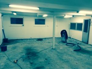 Garagegolv innan